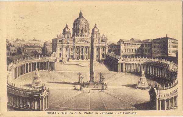 Roma - Piazza e Basilica San Pietro 1929