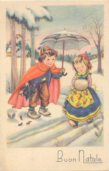 Immagini Natalizie Anni 50.Quattrobaj Categoria Cartoline Augurali Buon Natale