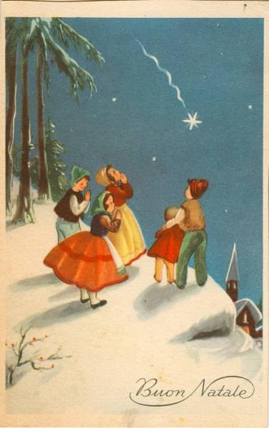 Buon Natale Anni 50.Quattrobaj Sezione Mercatino Categoria Cartoline Augurali